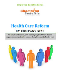 Champion Benefits Health Care Reform by Company size link